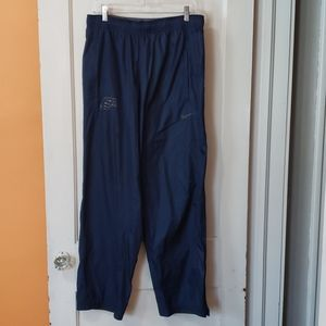 NIKE Strom Fit Blue Track Pants with a USA Logo
